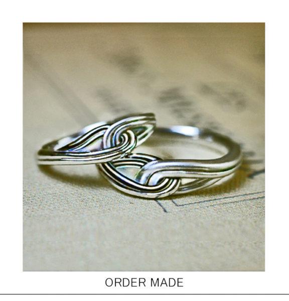 永遠に結ばれたふたりがテーマのオーダーメイドの結婚指輪捧