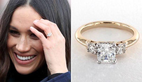 ヘンリー王子はメーガン妃に婚約指輪として、イエローゴールドのダイヤモンドリングを贈りました