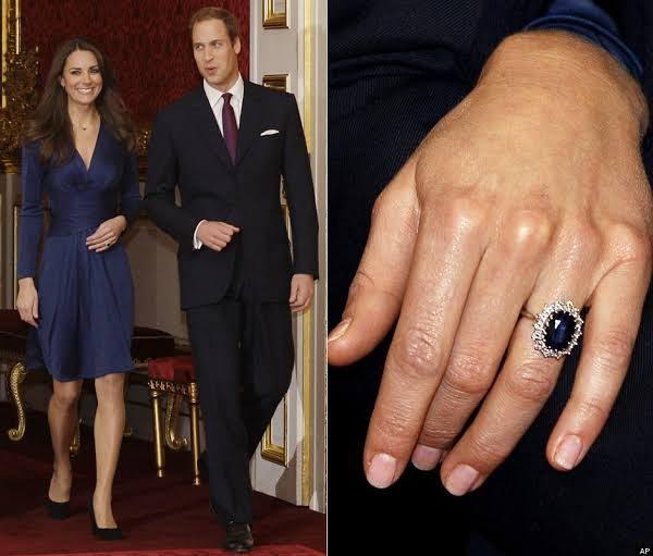 ウィリアム王子は婚約指輪としてケイトミドルトンにダイアナ妃のサファイアリングを贈りました。