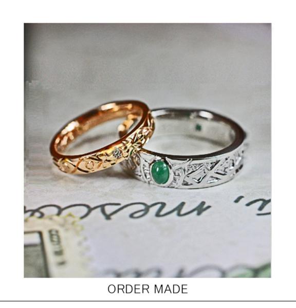 好きな宝石や色を結婚指輪にオーダーする