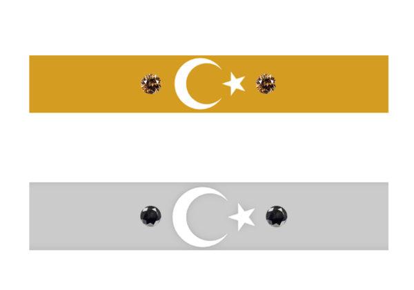 トルコ国旗の模様にダイヤモンドを入れたデザイン