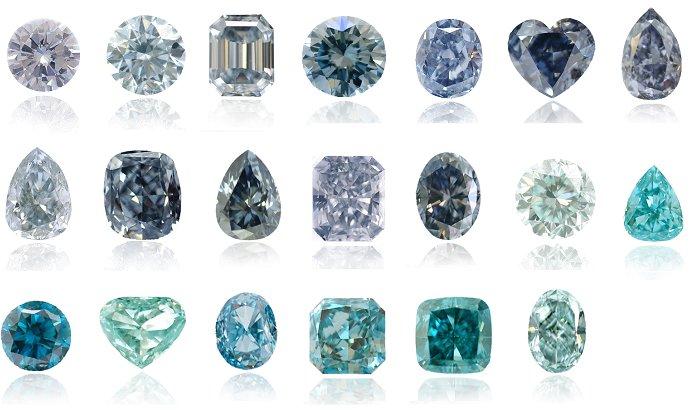 天然ブルーダイヤモンドの色の種類