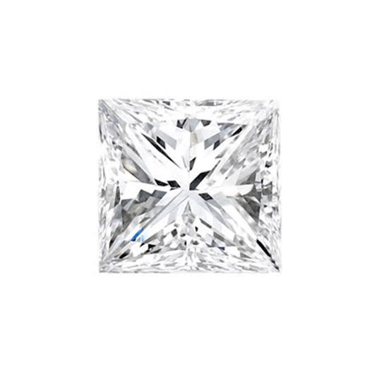 正方形のプリンセスカットダイヤモンド