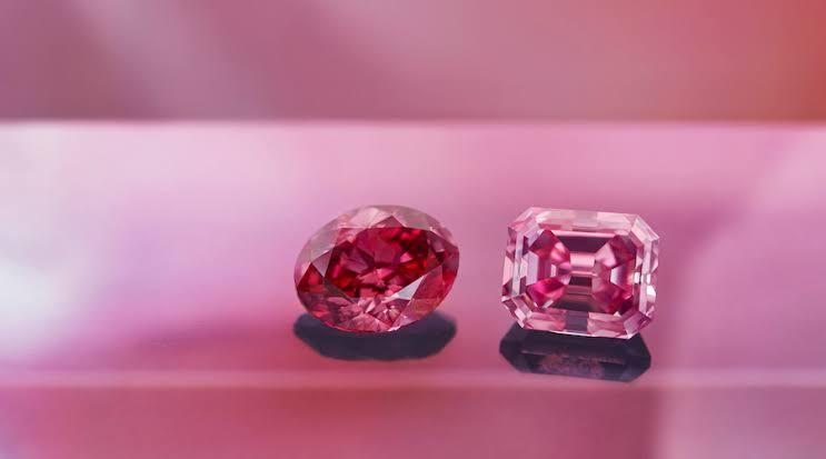 アーガイル鉱山のピンクダイヤモンド