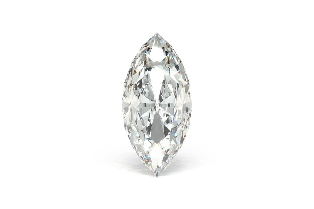 木の葉形のマーキースカットダイヤモンド