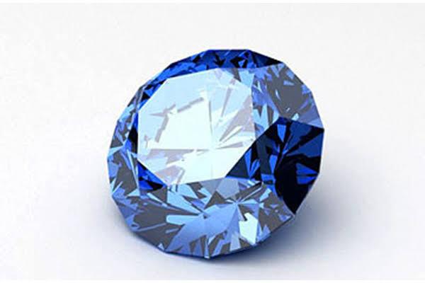 ブルーダイヤモンドのラウンドブリリアント
