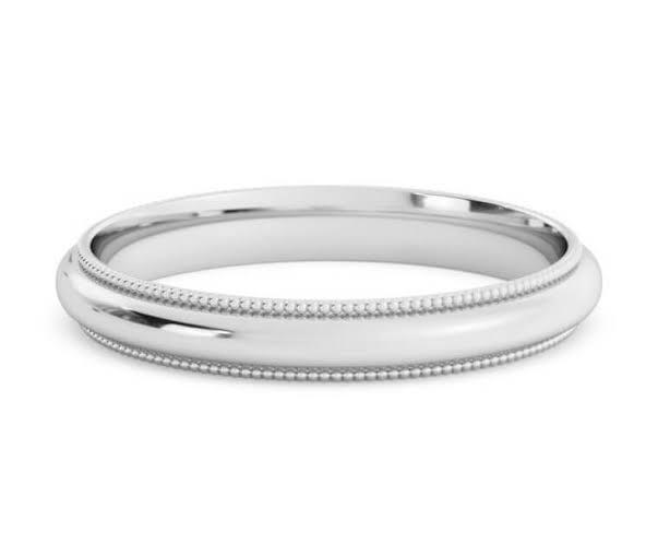 男性結婚指輪の幅は 3mm が最も多い