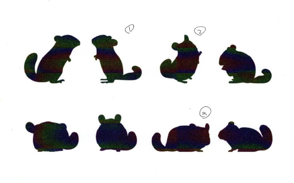 ネズミのシルエットデザイン