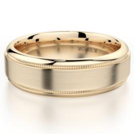 メンズ結婚指輪K14イエローゴールド