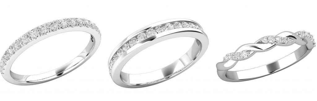 ダイヤモンドをセットした結婚指輪