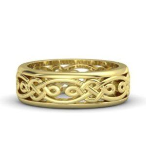 ジェムバラの男性結婚指輪・イエローゴールドアルハンブラ