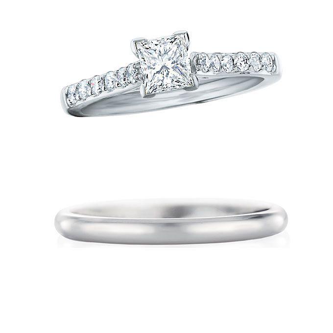 婚約指輪がエタニティリングにセットする結婚指輪