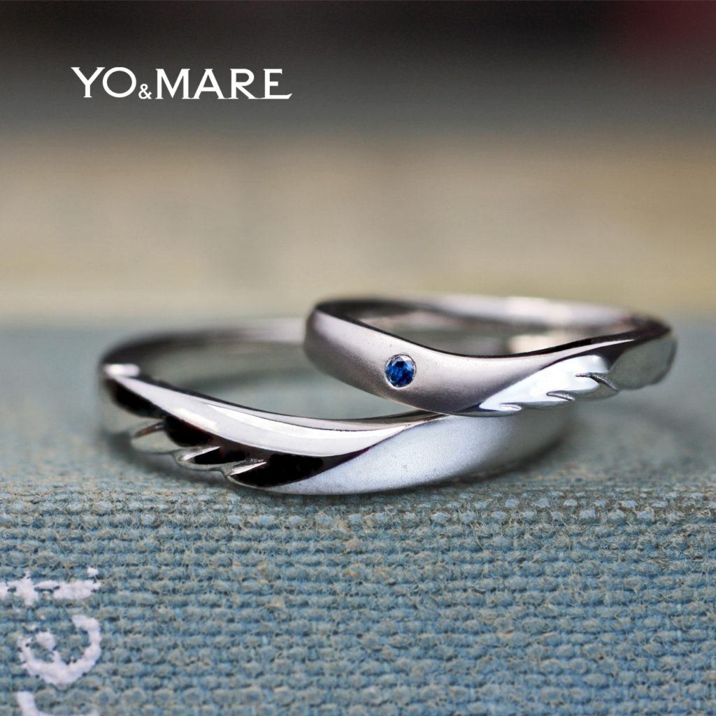 天使の羽をデザインしたティンカーベルの結婚指輪オーダーメイド作品