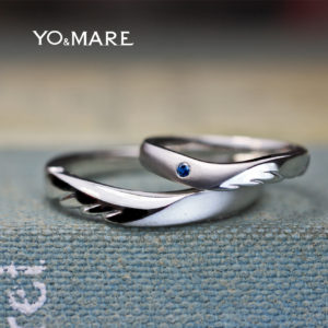 【天使の羽】をデザインしたティンカーベルの結婚指輪オーダー作品