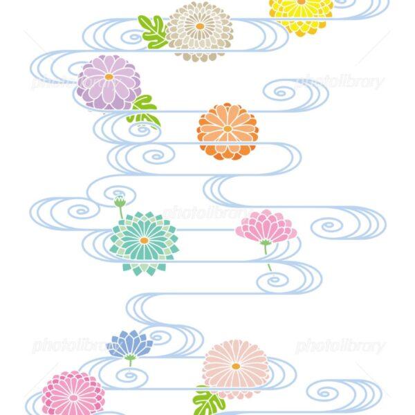 結婚指輪に入れる菊の模様