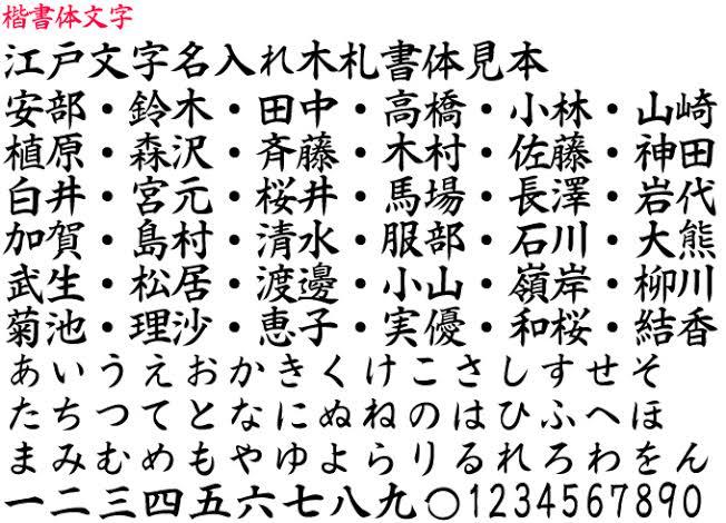 漢字楷書体で結婚指輪の内側に名前を入れる