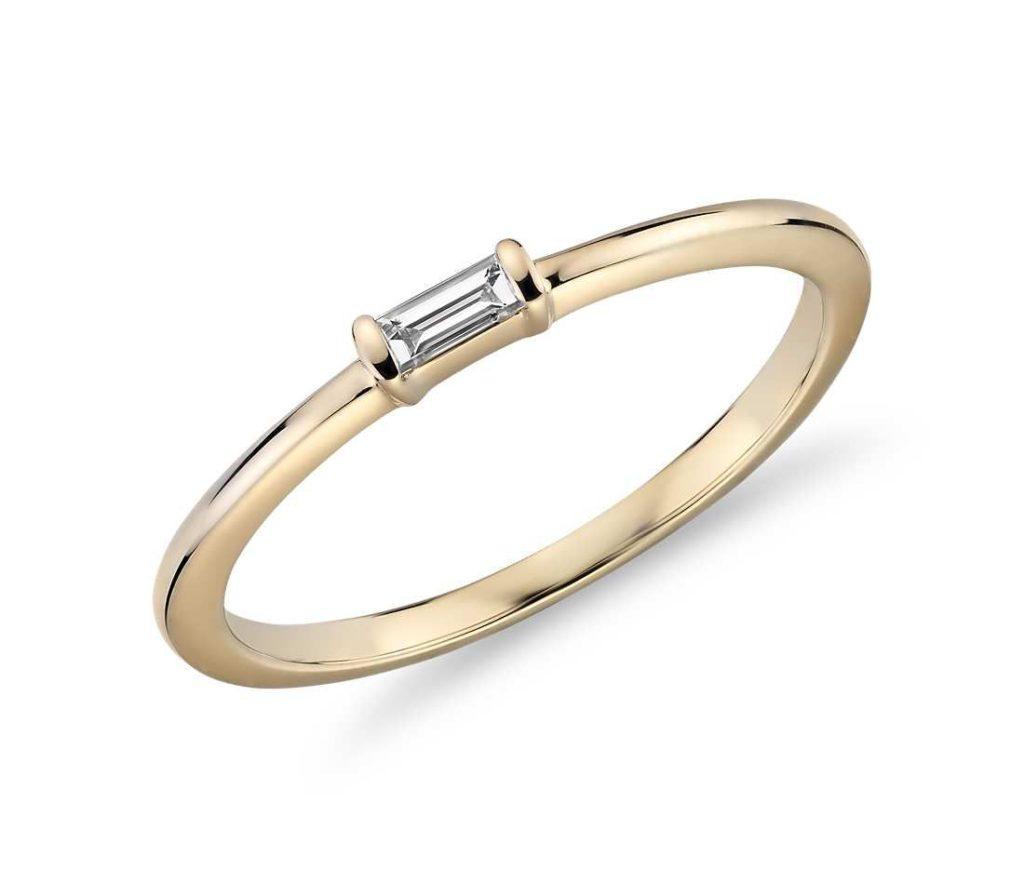 ブルーナイル・ミニバゲットダイヤモンドリング