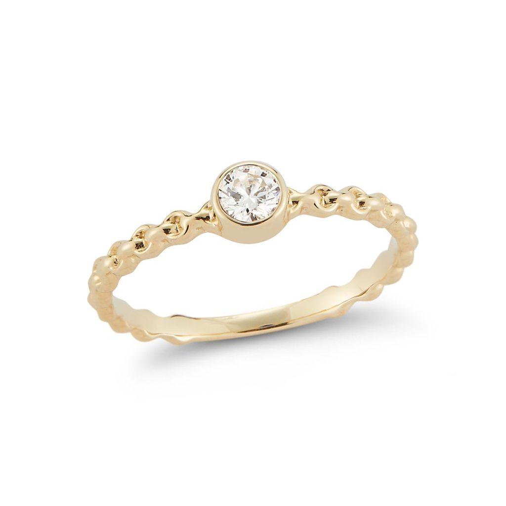 バルベラデザイン・ゴールドダイヤモンドリング