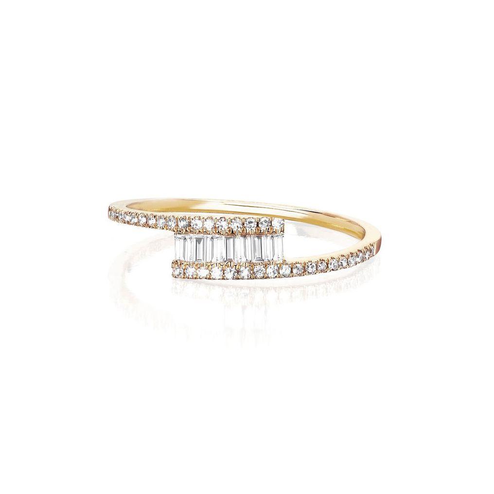 Fコレクション・バゲットダイヤをアームに挟んだゴールドエタニティ