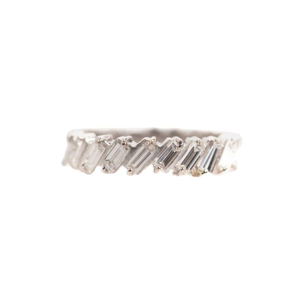 STDIBS・1カラットのバゲットダイヤがセットされたエタニティリング