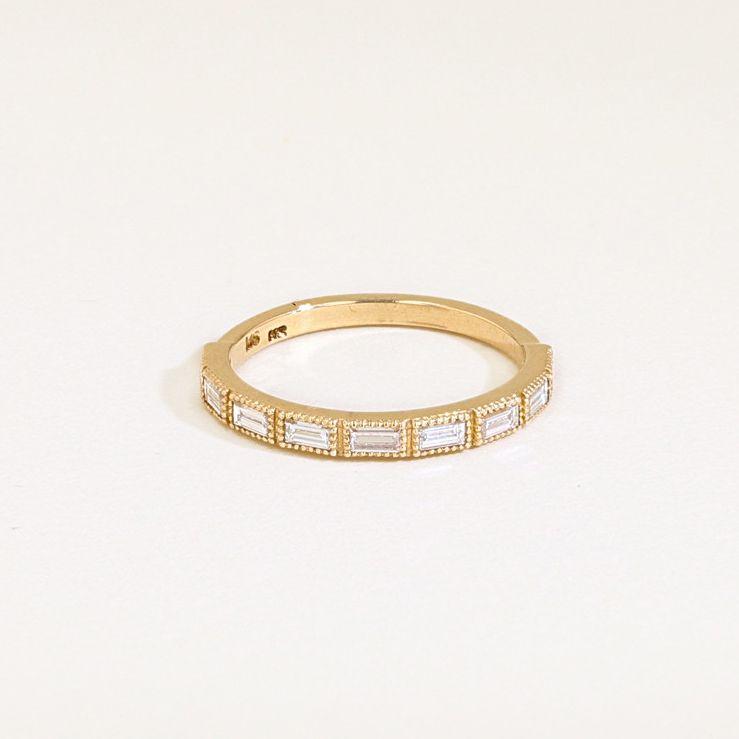 J.R.ダン・バゲットダイヤのゴールド結婚指輪