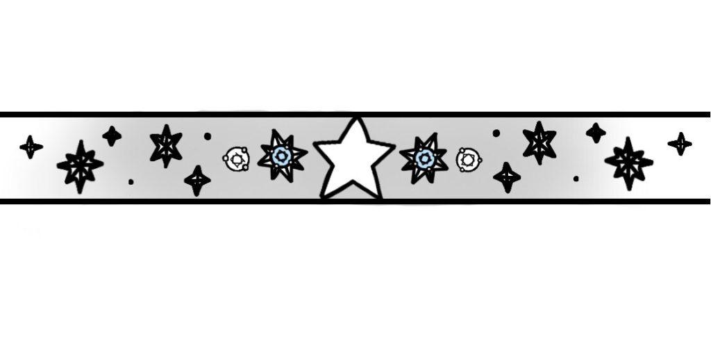 星とブルーダイヤ結婚指輪に一周デザインしたオーダーメイド作品の最終デザイン画像