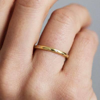 ゴールドの結婚指輪をオーダーする