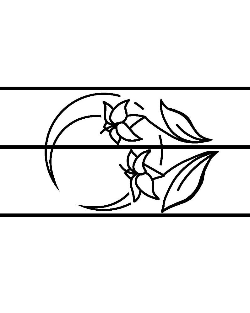 2匹のカエルが蓮の上で見つめあう結婚指輪オーダーメイド作品の月ラフ画