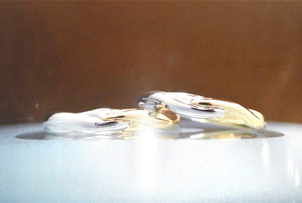 プラチナとゴールドのコンビリング