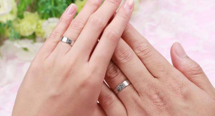 Pt 1000の結婚指輪としてのマイナスふ点