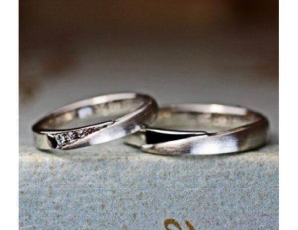 ジョイントデザインのプラチナ結婚指輪オーダー作品