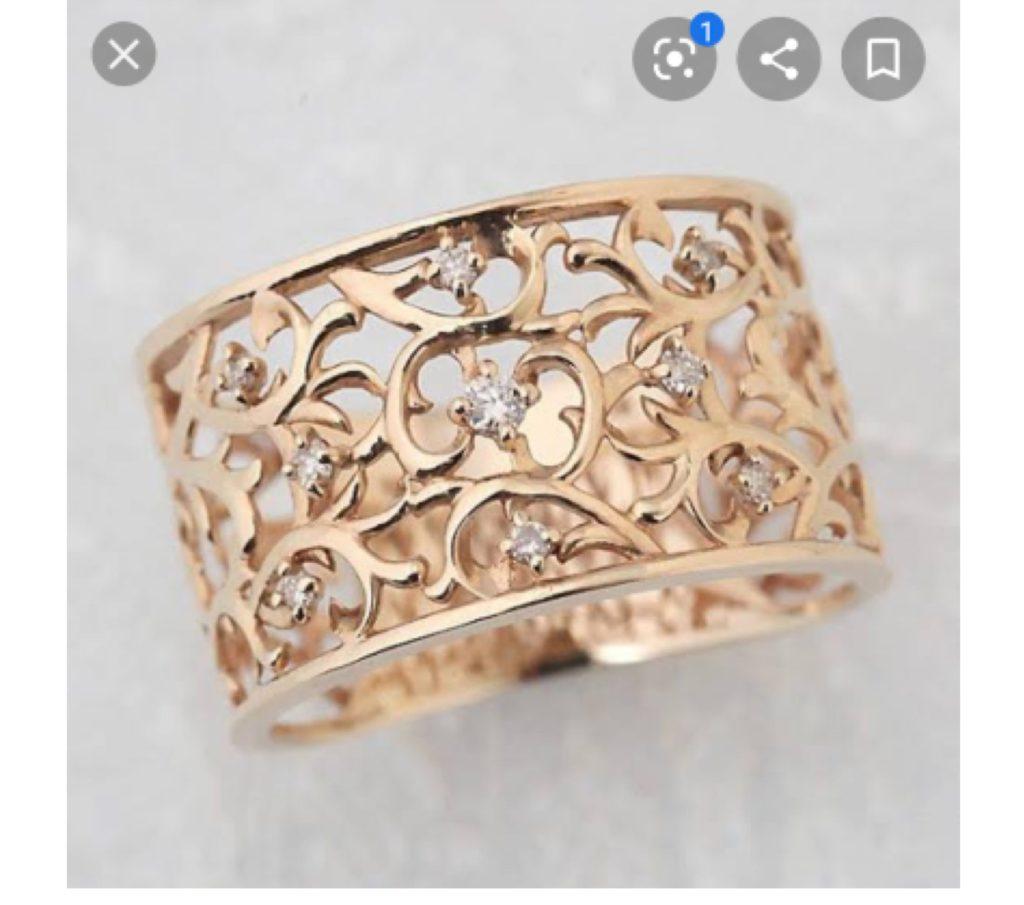バラの婚約指輪イメージ 1