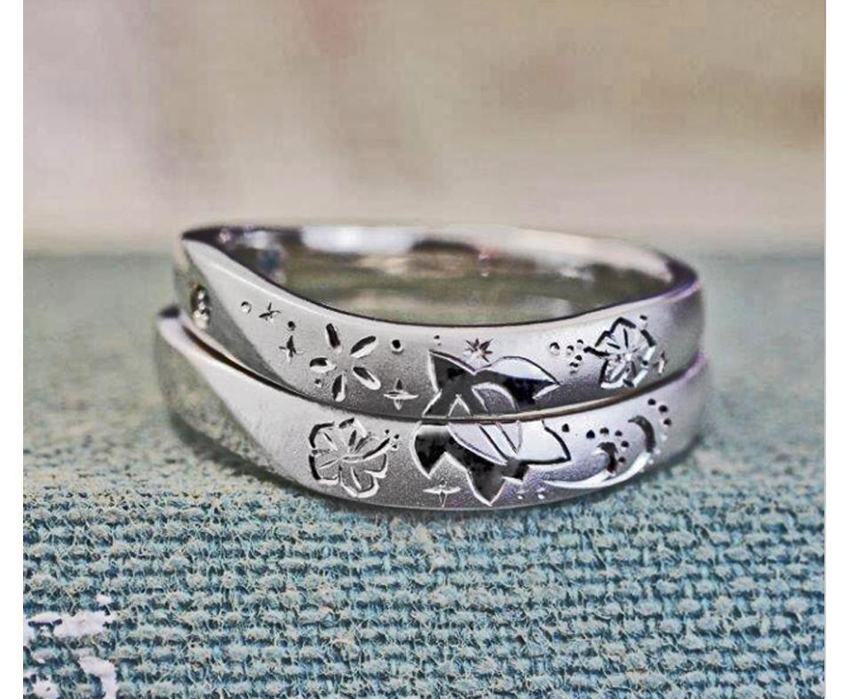 ハワイアン柄を結婚指輪にいれる