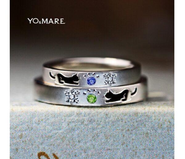 ねこと雪の結晶の結婚指輪が完成