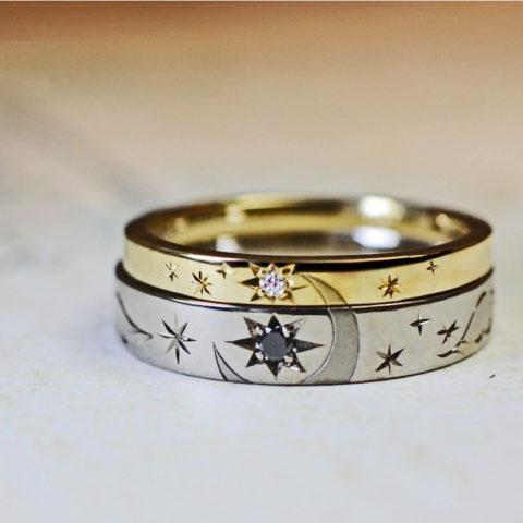 結婚指輪 月