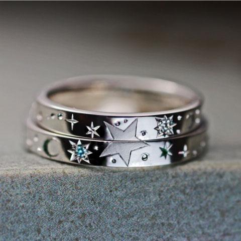 結婚指輪 星