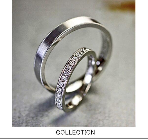 ダイヤをエタニティデザインした結婚指輪 コレクション