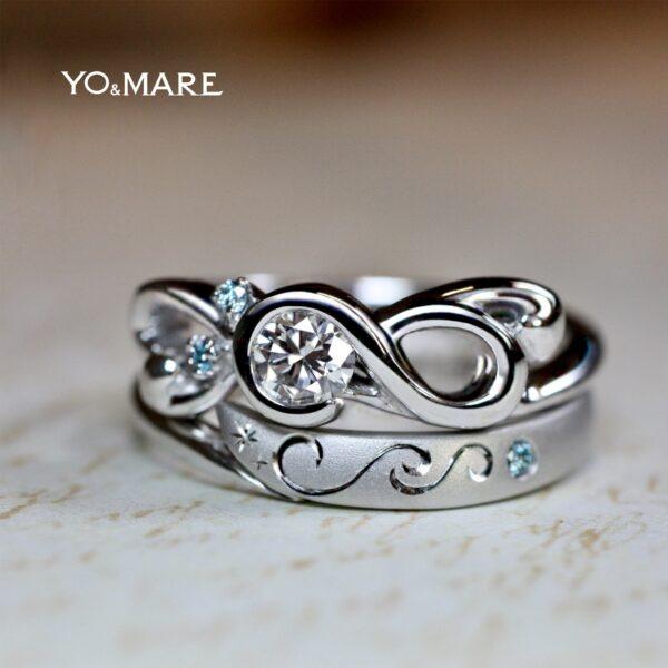 【音符】ト音記号の婚約指輪とヘ音記号の結婚指輪をオーダーメイド