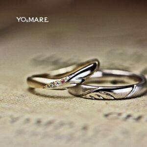 【天使の羽】の結婚指輪をゴールド&プラチナコンビにオーダーメイド