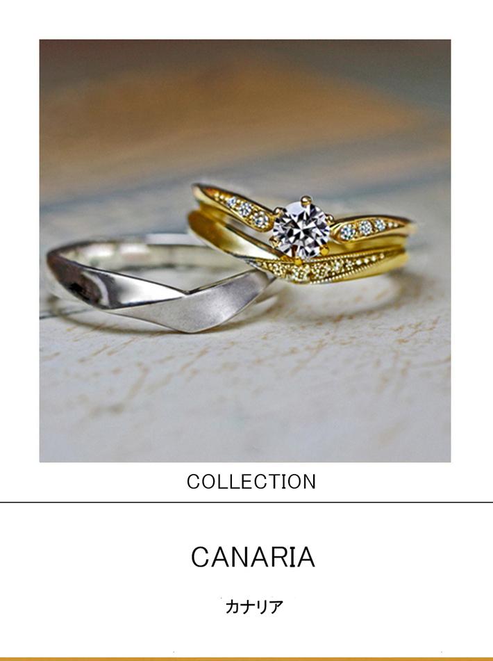 カナリア・指にとまったカナリアがモチーフの セットリングコレクションのサムネイル