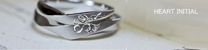 ハートイニシャルY&S・音楽のイニシャルYと稲穂のSで  ハートをつくるオーダーメイドの結婚指輪