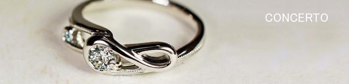 ト音記号のダイヤモンドエンゲージ・婚約指輪