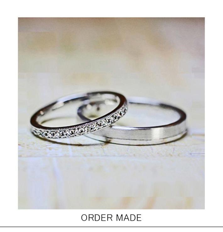 マイクロエタティ・幅1.6mmの極細ダイヤモンドエタニティ オーダーメイド・結婚指輪のサムネイル
