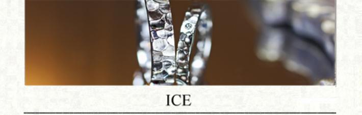 アイス・氷をデザインした結婚指輪の画像