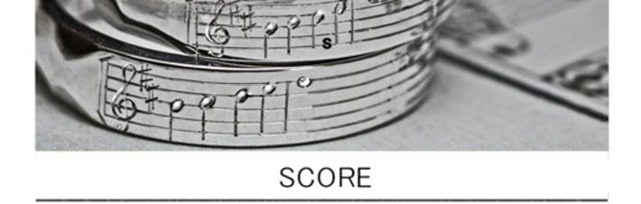 薬指の楽譜・結婚指輪に2人だけに聞こえる音楽を刻んだオーダーメイド作品の画像