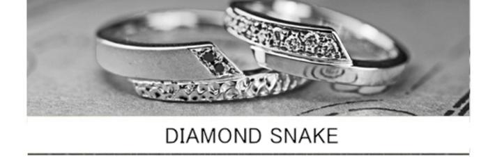 ダイヤモンドスネーク・結婚指輪をオーダーアレンジしたリングの画像