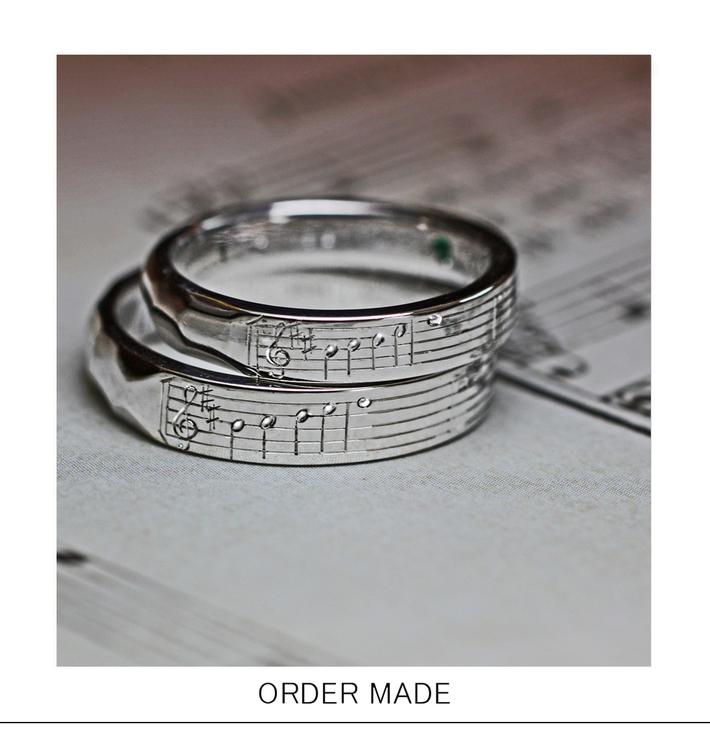 薬指の楽譜・結婚指輪に2人だけに聞こえる音楽を刻んだオーダー作品のサムネイル