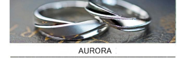 Vラインにひねりを加えたデザインのた婚指輪をオーダーメイドで。の画像