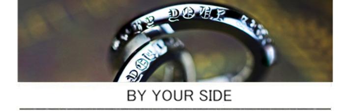 結婚指輪をクロムハーツ風デザインでオーダーしたプラチナ1000リングの画像