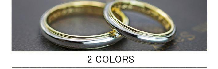 結婚指輪の内側はゴールド.外側はプラチナの2カラーオーダー作品の画像
